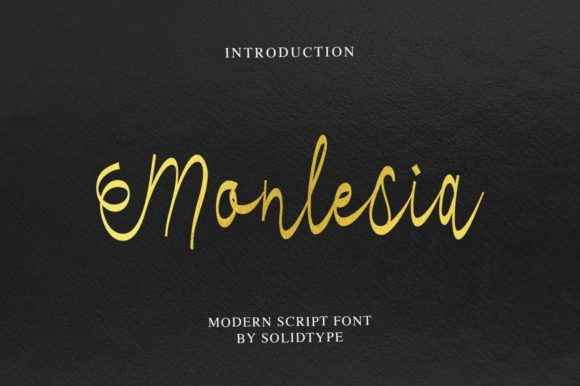 Print on Demand: Monlesia Script & Handwritten Font By Solidtype