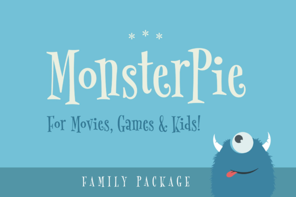 Print on Demand: Monster Pie Family Serif Font By Marc Lohner