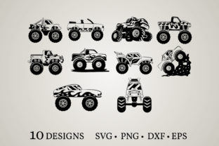 Monster Truck Graphic Crafts By Euphoria Design