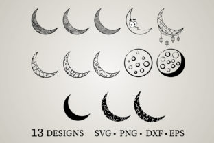 Moon Bundle Graphic Crafts By Euphoria Design