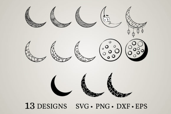 Moon Bundle Graphic Print Templates By Euphoria Design