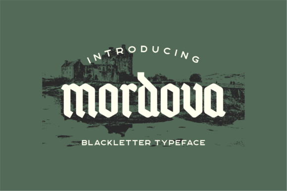 Print on Demand: Mordova Blackletter Font By 24Design Studios