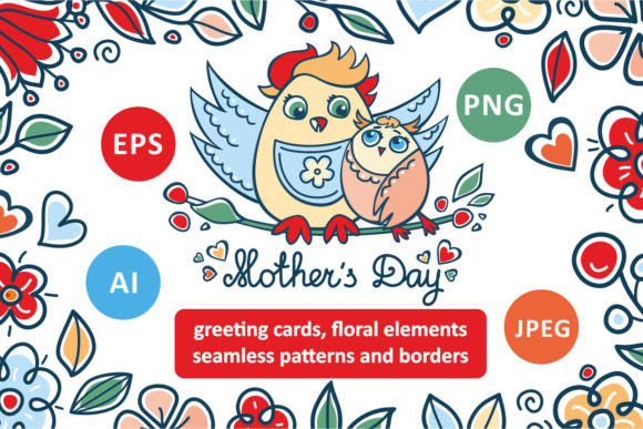 Download Free Mother S Day Floral Bundle Graphic By Zoyali Creative Fabrica for Cricut Explore, Silhouette and other cutting machines.