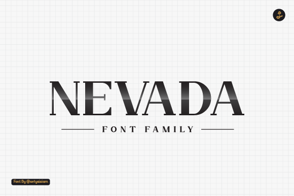 Print on Demand: Nevada Slab Serif Schriftarten von setyaisiam