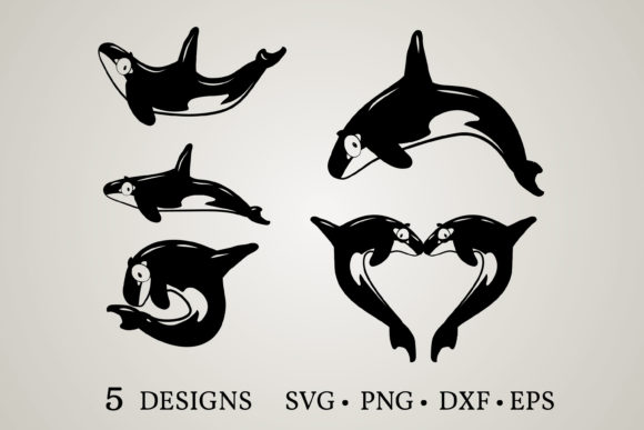 Download Free Orca Bundle Graphic By Euphoria Design Creative Fabrica for Cricut Explore, Silhouette and other cutting machines.