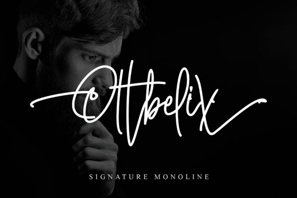 Print on Demand: Ottbelix Script & Handwritten Font By Stefani Letter