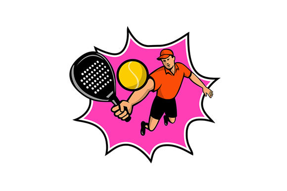 Download Free Padel Player With Racquet Jumping Graphic By Patrimonio for Cricut Explore, Silhouette and other cutting machines.