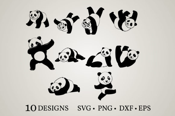 Panda Bundle Graphic Print Templates By Euphoria Design
