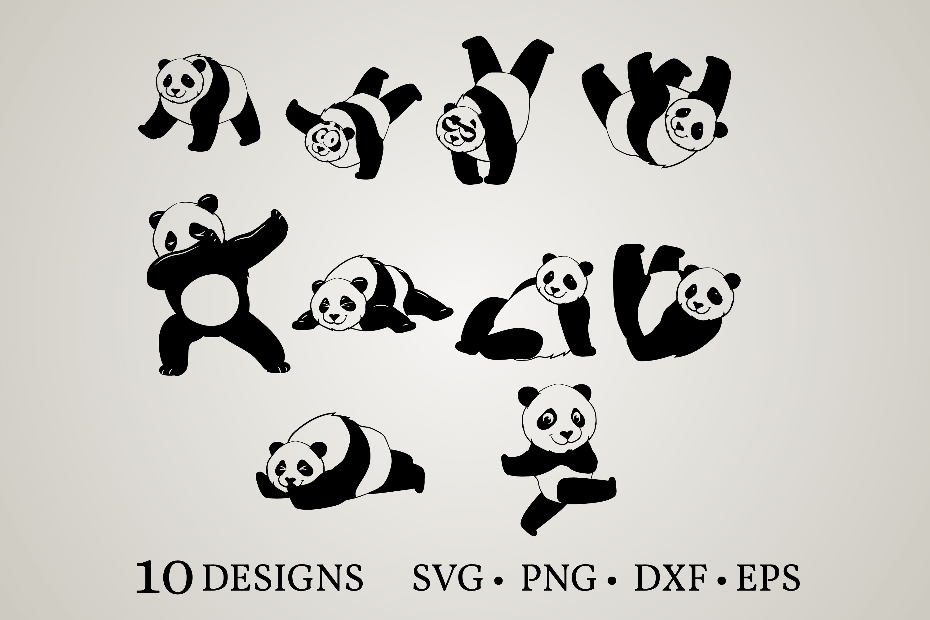 Download Free Panda Bundle Graphic By Euphoria Design Creative Fabrica for Cricut Explore, Silhouette and other cutting machines.