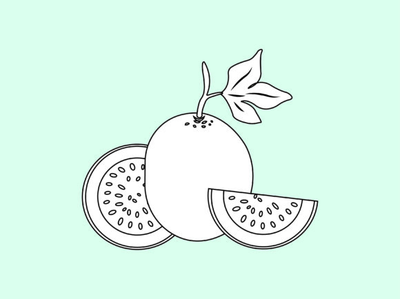 Download Free Passion Fruit Outline Icon Vector Design Graphic By 1tokosepatu for Cricut Explore, Silhouette and other cutting machines.