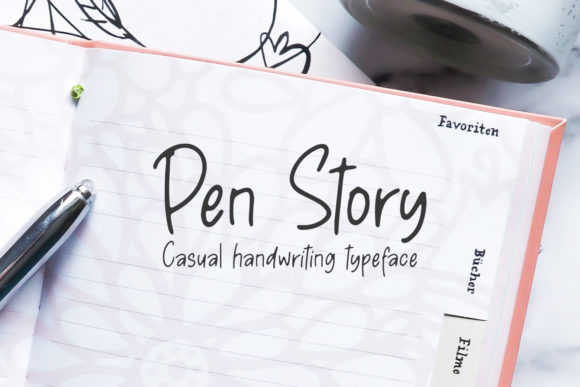 Download Free Pen Story Font By Motokiwo Creative Fabrica for Cricut Explore, Silhouette and other cutting machines.