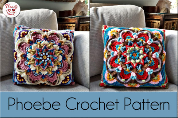 Download Free Phoebe Cushion Crochet Pattern Graphic By Words Count Designs for Cricut Explore, Silhouette and other cutting machines.