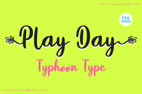 Print on Demand: Play Day Script & Handwritten Font By Typhoon Type - Suthi Srisopha