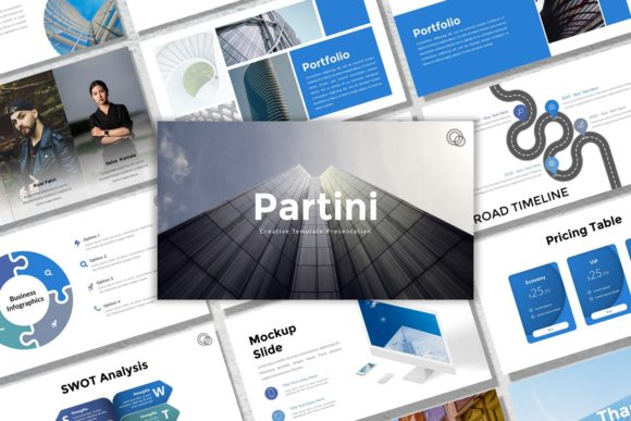 Download Free Presentation Templates Partini Graphic By Listulabs Creative SVG Cut Files