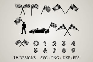 Download Free Racing Flag Graphic By Euphoria Design Creative Fabrica for Cricut Explore, Silhouette and other cutting machines.