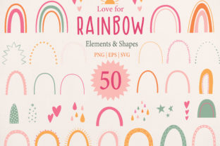 Rainbow Individual Elements Clipart Graphic Illustrations By EssentiallyNomadic