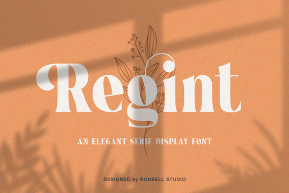 Print on Demand: Regint Serif Font By Runsell Graphic