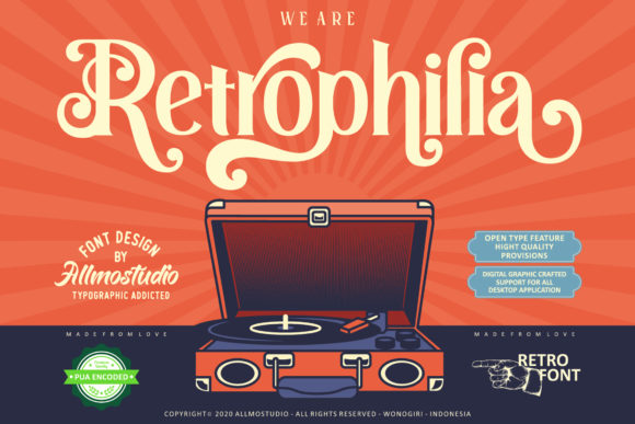 Print on Demand: Retrophilia Display Font By AllmoStudio - Image 1