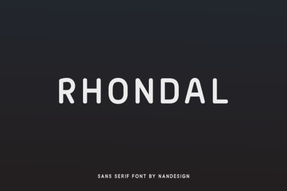 Print on Demand: Rhondal Sans Serif Font By Nan Design