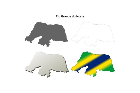 Download Free Rio Grande Do Norte Outline Map Set Graphic By Davidzydd for Cricut Explore, Silhouette and other cutting machines.