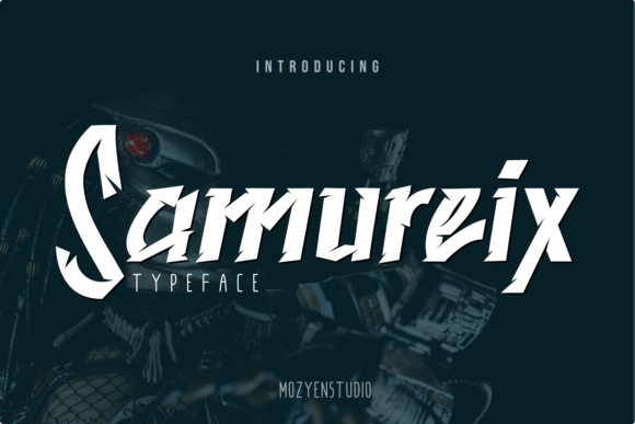 Print on Demand: Samureix Display Font By mozyenstudio
