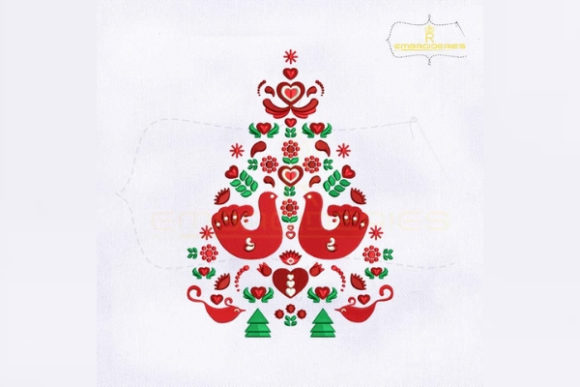 Scandinavian Christmas Tree Christmas Embroidery Design By RoyalEmbroideries