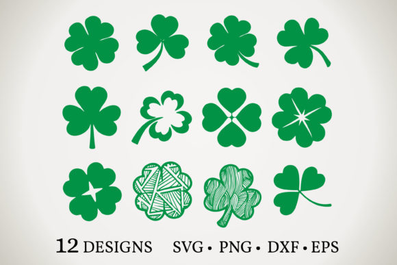 Shamrock Bundle Graphic Print Templates By Euphoria Design