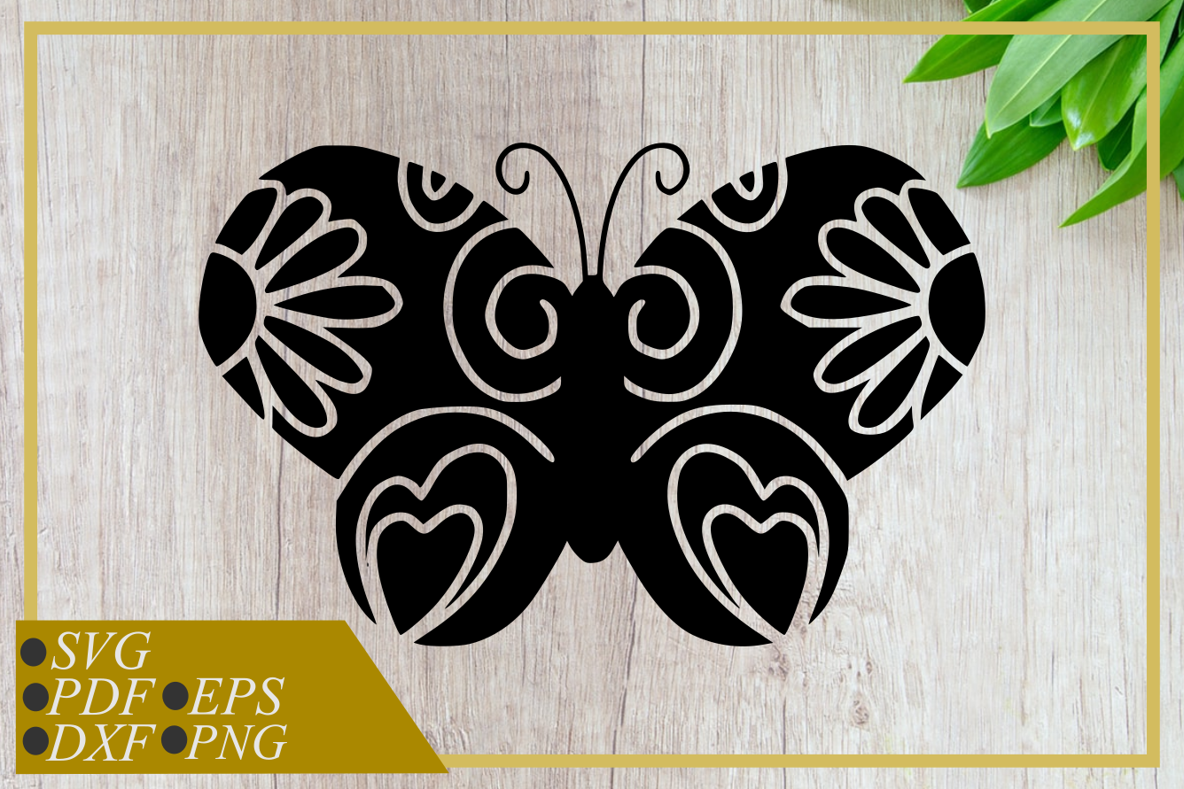 Download Free Simple Silhouette Butterfly Graphic By Rizuki Store Creative for Cricut Explore, Silhouette and other cutting machines.