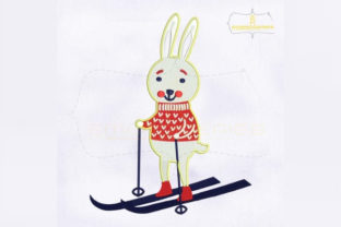 Download Free Skating Rabbit Christmas Creative Fabrica for Cricut Explore, Silhouette and other cutting machines.