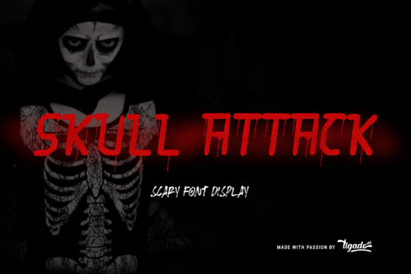 Download Free Skull Attack Font By Tigade Std Creative Fabrica for Cricut Explore, Silhouette and other cutting machines.