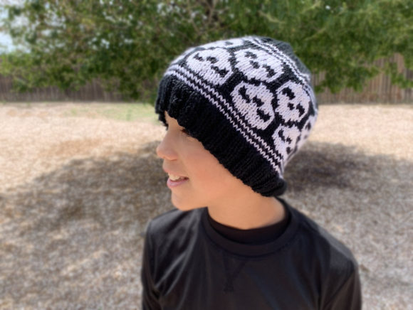 Skully Skull Cap Knit Pattern Graphic Knitting Patterns By Knit and Crochet Ever After