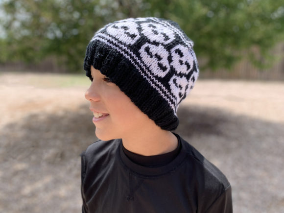Skully Skull Cap Knit Pattern Graphic Knitting Patterns By Knit and Crochet Ever After - Image 2