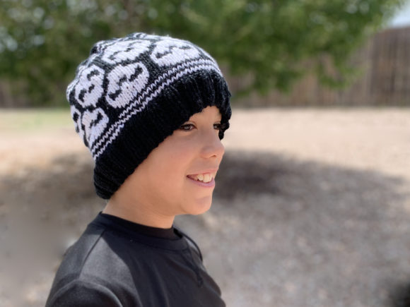 Skully Skull Cap Knit Pattern Graphic Knitting Patterns By Knit and Crochet Ever After - Image 4