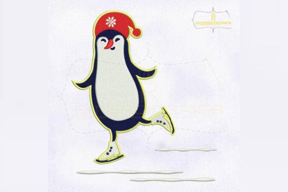 Download Free Snow Playing Hello Christmas Penguin Creative Fabrica for Cricut Explore, Silhouette and other cutting machines.