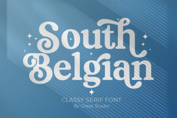 Print on Demand: South Belgian Serif Font By Great Studio