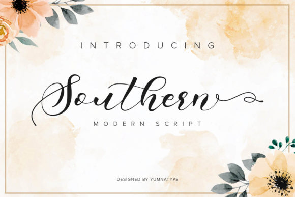 Print on Demand: Southern Script & Handwritten Font By Yumna_Type