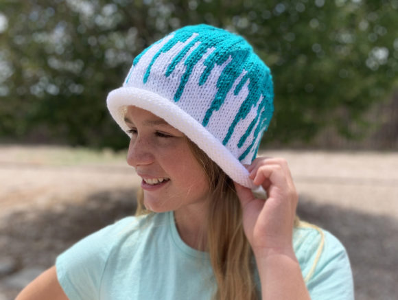 Splash Beanie Knit Pattern Graphic Knitting Patterns By Knit and Crochet Ever After - Image 4