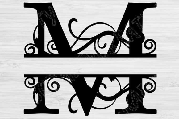 Download Free Split Letter Monogram Alphabet Graphic By Tiffscraftycreations for Cricut Explore, Silhouette and other cutting machines.