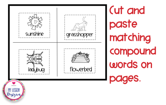 Spring Compound Word Book Graphic 1st grade By My Lesson Designer - Image 4
