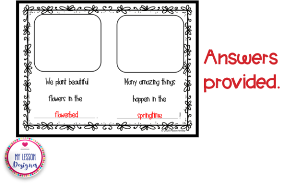 Spring Compound Word Book Graphic 1st grade By My Lesson Designer - Image 5
