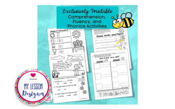 Download Free Spring Literacy Pack Graphic By My Lesson Designer Creative for Cricut Explore, Silhouette and other cutting machines.