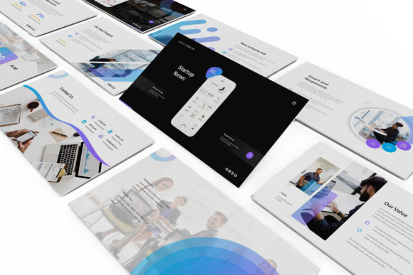 Download Free Startup Pitch Deck Keynote Graphic By Giant Design Creative for Cricut Explore, Silhouette and other cutting machines.