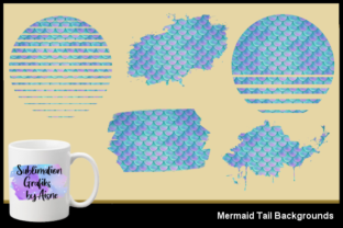 Print on Demand: Sublimation Mermaid Tail Backgrounds Graphic Backgrounds By Aisne