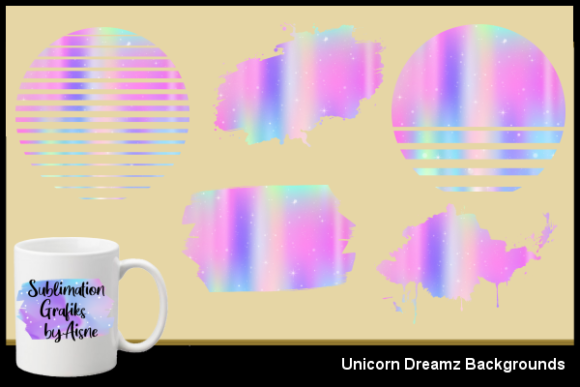 Print on Demand: Sublimation Unicorn Dreamz Backgrounds Graphic Backgrounds By Aisne