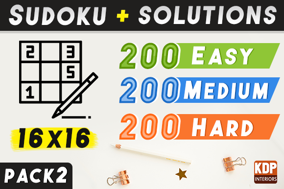 Print on Demand: Sudoku with Solutions 600 Grids | Pack 2 Graphic KDP Interiors By KDP Interiors
