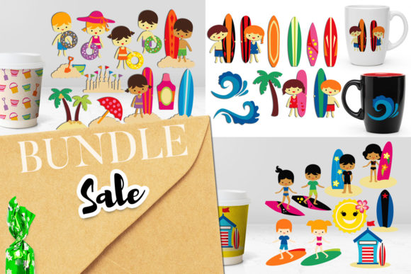 Download Free 13 Beach Clipart Designs Graphics for Cricut Explore, Silhouette and other cutting machines.