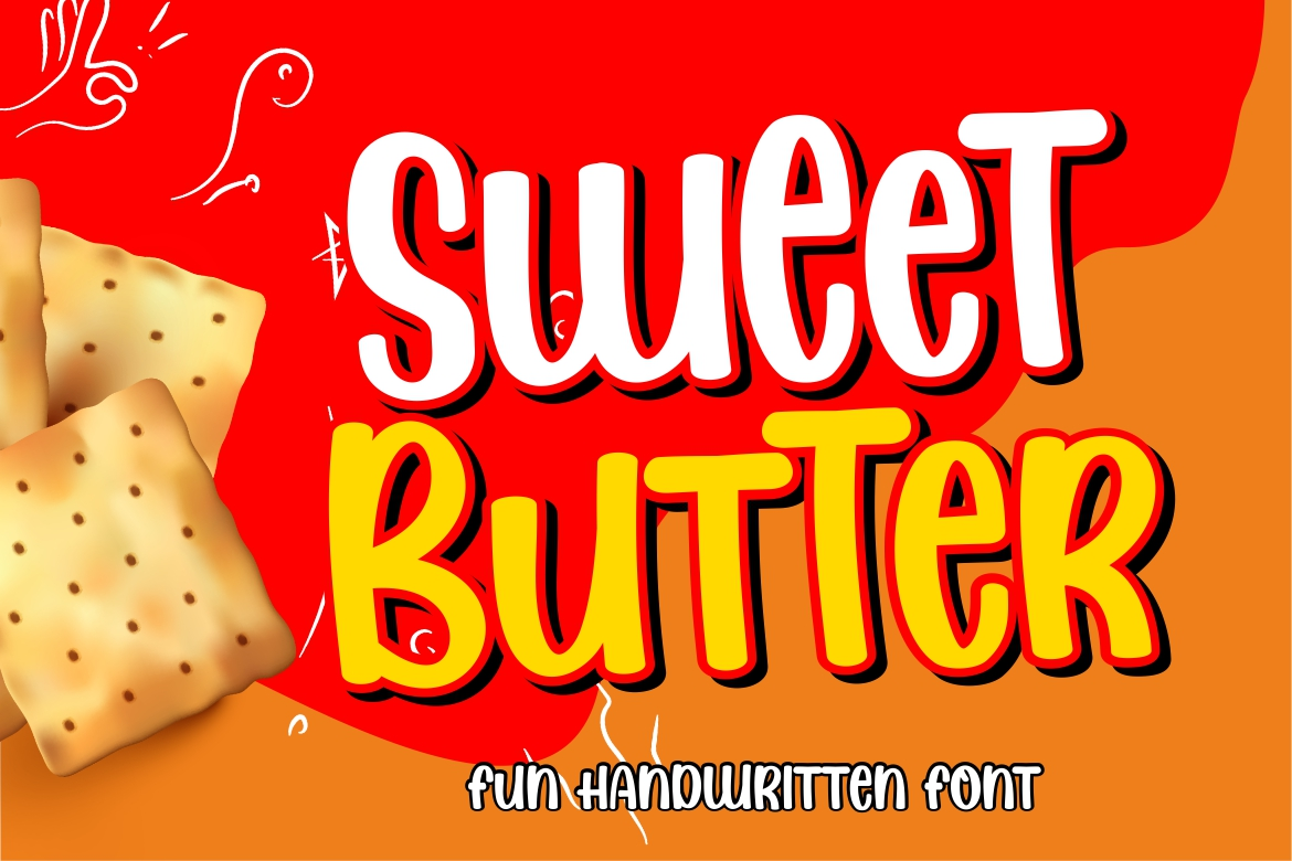 Download Free Sweet Butter Font By Hansco Creative Fabrica for Cricut Explore, Silhouette and other cutting machines.