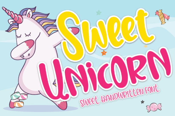 Print on Demand: Sweet Unicorn Script & Handwritten Font By Stefani Letter