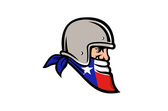 Download Free Texan Bandit Wearing Bandana Texas Flag Graphic By Patrimonio for Cricut Explore, Silhouette and other cutting machines.