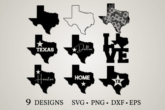Texas State Graphic Print Templates By Euphoria Design